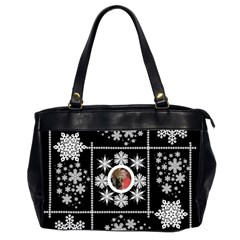 Midnight Snowstorm Winter Oversized Office Bag By Catvinnat   Oversize Office Handbag (2 Sides)   96ffw1iz0ye9   Www Artscow Com Front