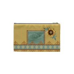 Quilted Small Cosmetic Bag By Lisa Minor   Cosmetic Bag (small)   3b4z9rd7kgdn   Www Artscow Com Back