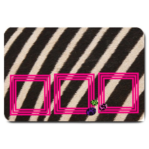 Pink And Zebra   Door Mat By Carmensita   Large Doormat   6qfkb1o1sjiw   Www Artscow Com 30 x20 Door Mat - 1