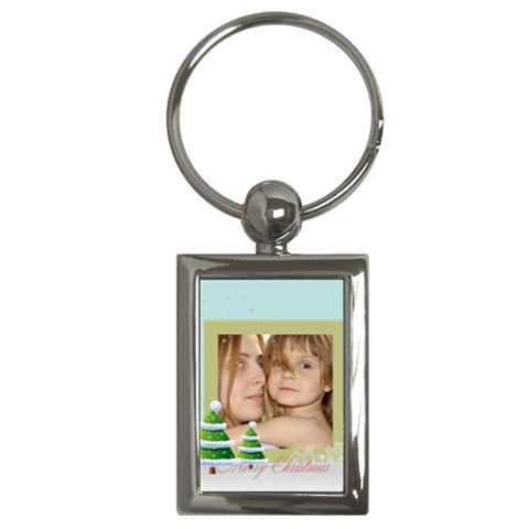 Christmas By Wood Johnson   Key Chain (rectangle)   Ijrgt2q835id   Www Artscow Com Front