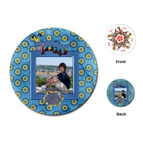 Silly Summer Fun Round Playing Cards By Lisa Minor   Playing Cards (round)   Hbj3hzolgalq   Www Artscow Com Front