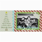 Merry Christmas Photo Card w tree - 4  x 8  Photo Cards