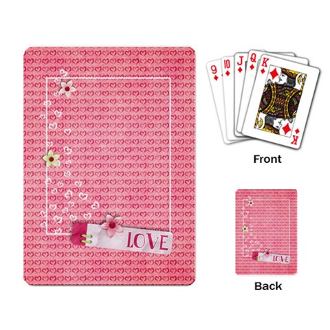 Love * Hearts  Playing Cards By Mikki   Playing Cards Single Design   H6d22ou2slhh   Www Artscow Com Back