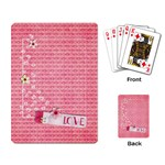 Love * Hearts -playing cards - Playing Cards Single Design