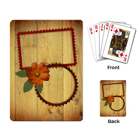 Rustic Playing Cards By Mikki   Playing Cards Single Design   Gr4xdv38xj3b   Www Artscow Com Back