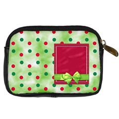 Merry And Bright Camera Case 1 By Lisa Minor   Digital Camera Leather Case   C6sqzic3spgv   Www Artscow Com Back