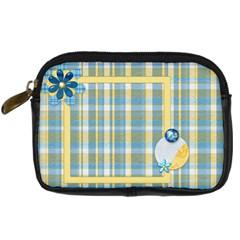 Ella In Blue Camera Bag By Lisa Minor   Digital Camera Leather Case   I7c7v7k76wv1   Www Artscow Com Front