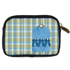 Ella In Blue Camera Bag By Lisa Minor   Digital Camera Leather Case   I7c7v7k76wv1   Www Artscow Com Back