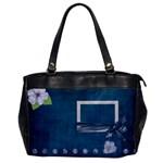 Lavender Rain Oversized Office Bag 1 side - Oversize Office Handbag