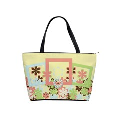 Spring Blossoms Classic Shoulder Handbag By Lisa Minor   Classic Shoulder Handbag   Mnkgom6jq2ii   Www Artscow Com Front