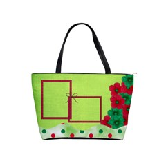 Merry And Bright Classic Shoulder Handbag By Lisa Minor   Classic Shoulder Handbag   F2frvr9wbd3x   Www Artscow Com Front