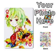 Queen Touhou Watercolor Deck By Herpan Derpan   Playing Cards 54 Designs   Awp89gt03fyd   Www Artscow Com Front - DiamondQ