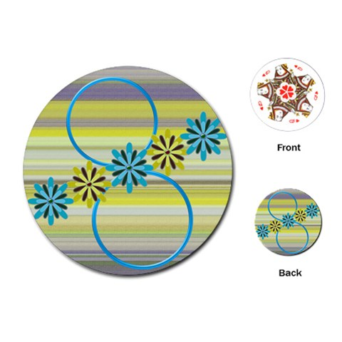 Flower Cards By Daniela   Playing Cards (round)   Evkq40c2ui15   Www Artscow Com Front