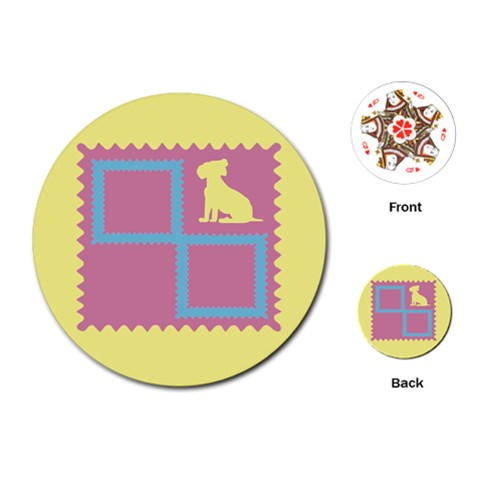 Dog Cards By Daniela   Playing Cards (round)   4ufkaj8suipb   Www Artscow Com Front
