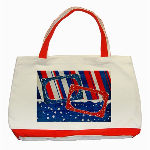 Red, White & Blue Classic Tote Bag Red By Mikki   Classic Tote Bag (red)   H2lk6vlwrri0   Www Artscow Com Front