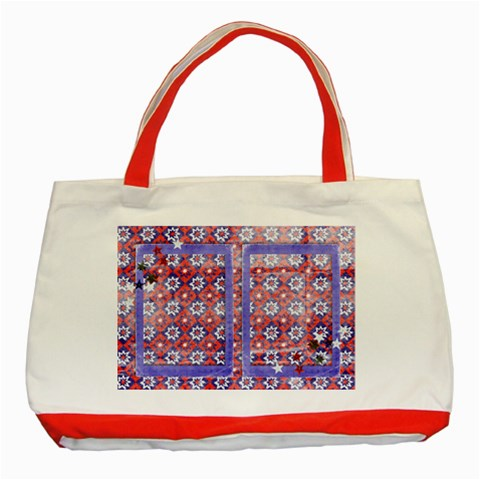 Red, White & Blue Classic Tote Bag Red2 By Mikki   Classic Tote Bag (red)   Dma8aekx2695   Www Artscow Com Front
