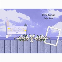 Boy Blessing Baby Shower Invitation By Lisa Minor   5  X 7  Photo Cards   Necr6q6ttjot   Www Artscow Com 7 x5 Photo Card - 7