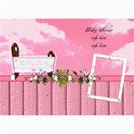 Girl Blessing baby shower invitation - 5  x 7  Photo Cards