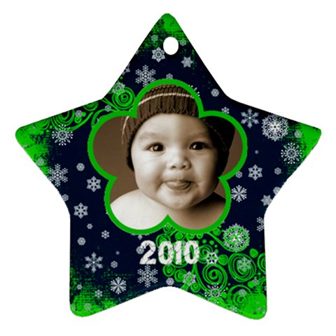 Scroll Upon A Star Snowflake 2010 Star Ornament By Catvinnat   Ornament (star)   Orz5dsrm2gc0   Www Artscow Com Front