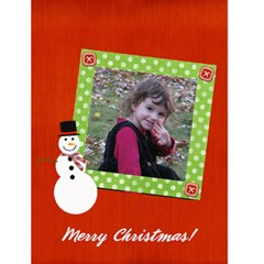 Snowman Christmas Card  By Ashley   Greeting Card 4 5  X 6    Nk0ky4ks3pku   Www Artscow Com Front Cover