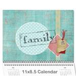 Family Calendar - Wall Calendar 11  x 8.5  (12-Months)