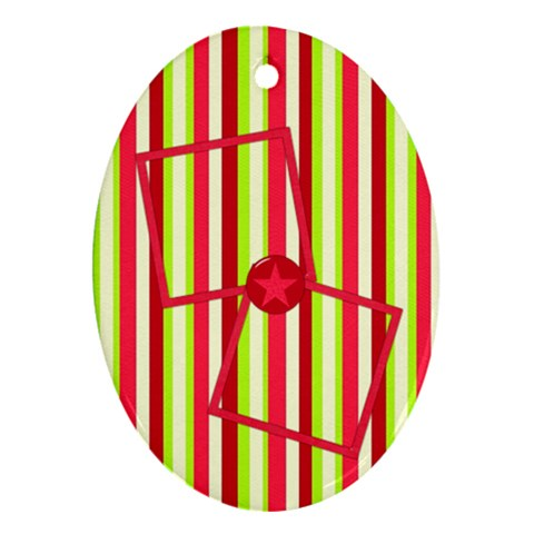 Cherry Slush Oval Ornament 1 By Lisa Minor   Ornament (oval)   Sf8g0taduvin   Www Artscow Com Front