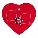 Cherry Slush Heart Ornament - Ornament (Heart)