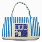 Boy Blessing Striped Tote - Striped Blue Tote Bag