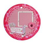 Girl Blessing Baby s First Christmas Ornament - Round Ornament (Two Sides)