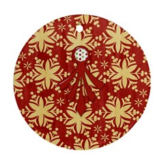Merry And Bright Bah Humbug Ornament By Lisa Minor   Round Ornament (two Sides)   Dupjiiohzxrk   Www Artscow Com Back