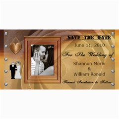 Wedding Save The Date Cards #4 By Lil    4  X 8  Photo Cards   Y109l89u6g65   Www Artscow Com 8 x4 Photo Card - 1