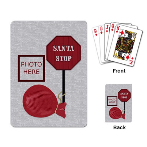 Christmas Playing Cards By Lisa Minor   Playing Cards Single Design   6iqj2xcsteb2   Www Artscow Com Back