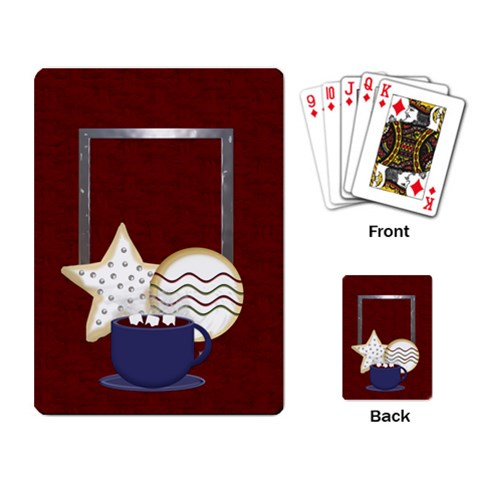Holiday Playing Cards By Lisa Minor   Playing Cards Single Design   1zfc94ivfv82   Www Artscow Com Back