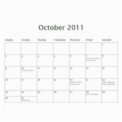 2011 Hunnell Calendar By Susan   Wall Calendar 11  X 8 5  (12 Months)   Chebl8ja89lg   Www Artscow Com Oct 2011