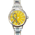 Autism Awareness-Italian Charm Watch - Round Italian Charm Watch