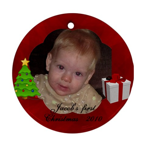 Orn Jacob By Gloria Ann   Ornament (round)   Sctoanqz6nwp   Www Artscow Com Front