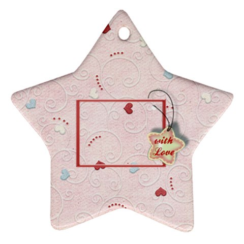 With Love   Pink By Daniela   Ornament (star)   Kbyghwttf4a5   Www Artscow Com Front