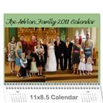 Adrian 2011 Christmas Calendar - Wall Calendar 11  x 8.5  (12-Months)