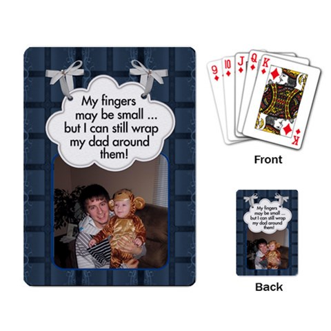 Dad Cards By Gloria Ann   Playing Cards Single Design   Orp9to61slyc   Www Artscow Com Back