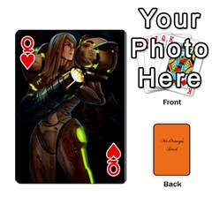 Queen Gaming Deck By Gregor Skeldon   Playing Cards 54 Designs   Ulnsbuq4e6go   Www Artscow Com Front - HeartQ