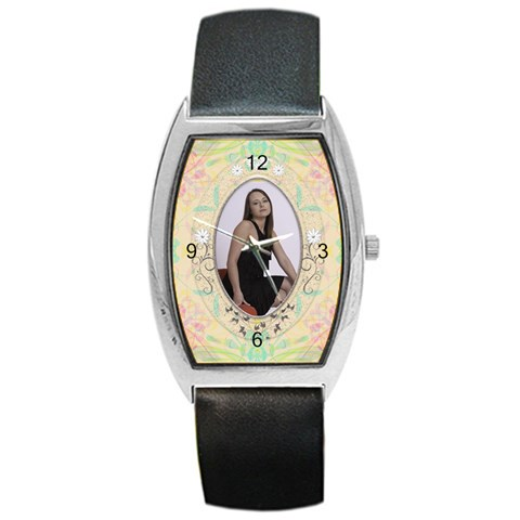 Pretty Barrel Style Metal Watch By Lil    Barrel Style Metal Watch   Z32qqosng779   Www Artscow Com Front
