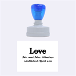 Love Mr and Mrs. Stamp - Rubber Stamp Oval