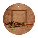 Septembers Blush 2 sided ornament - Round Ornament (Two Sides)