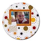 Tangerine Breeze Round Mousepad 1