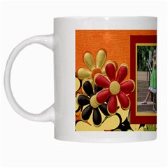 Tangerine Breeze Mug 1 By Lisa Minor   White Mug   Oaa795fsgil1   Www Artscow Com Left