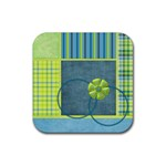 Bluegrass Square Coaster Set 1 - Rubber Square Coaster (4 pack)