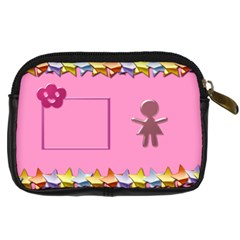 Mommy s Little Girl By Daniela   Digital Camera Leather Case   Qly00nif7a20   Www Artscow Com Back