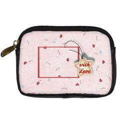 With Love Pink By Daniela   Digital Camera Leather Case   Snnpsiry3hh2   Www Artscow Com Front