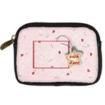 With Love pink - Digital Camera Leather Case