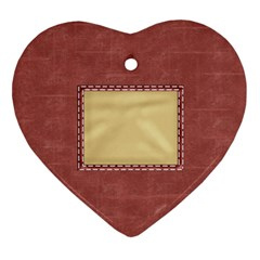 Quilted Heart Ornament 1 By Lisa Minor   Heart Ornament (two Sides)   Ufnfpu63hsyq   Www Artscow Com Back